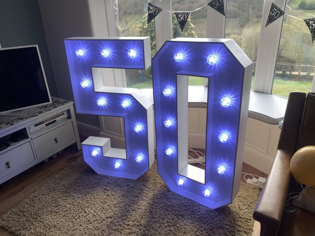 Light Up Numbers 50
